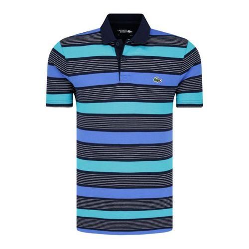 Áo Polo Lacoste Koszulka Meska Polo Shell Striped Màu Xanh Blue