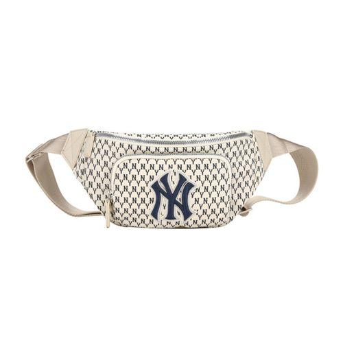 Túi Đeo Hông MLB Monogram Hip Sac New York Yankees 32BGC9111-50I Màu Trắng