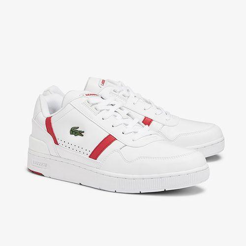 Giày Thể Thao Lacoste T-Clip 0721 Màu Trắng Đỏ Size 42