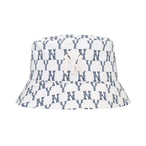 Mũ MLB Monogram Crayon Bucket Hat New York Yankees 32CP30111-50I Màu Trắng
