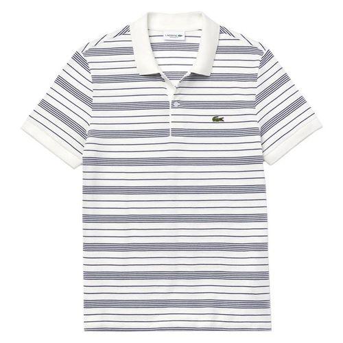 Áo Phông Lacoste Regular Fit Striped Cotton Piqué Polo Shirt Màu Trắng Kẻ Size 3