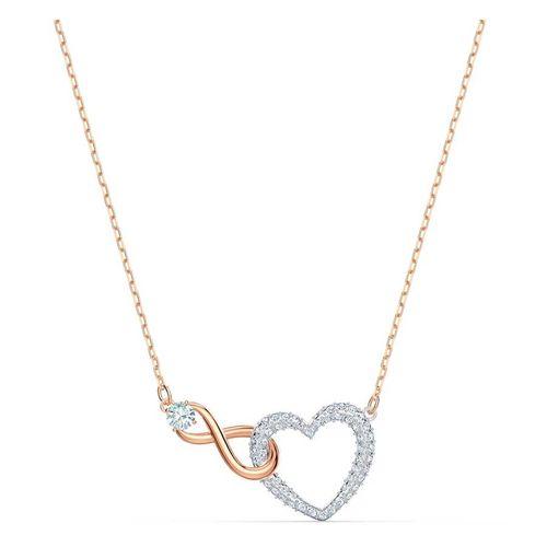 Dây Chuyền Swarovski Infinity Heart Necklace White, Mixed Metal Finish