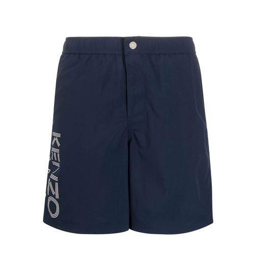 Quần Shorts Kenzo Logo-Printed Swim Shorts Màu Xanh Navy Size XS