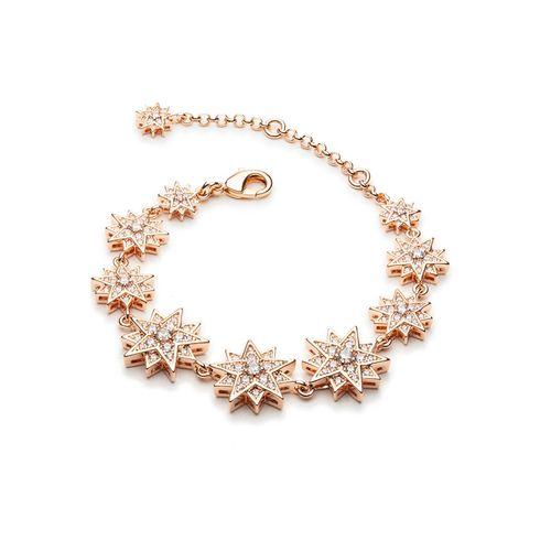 Vòng Đeo Tay Swarovski Moonsun Bracelet, White, Rose-Gold Tone Plated