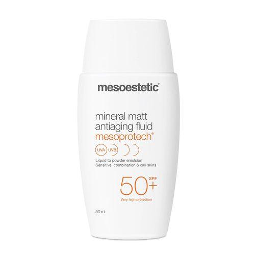 Kem Chống Nắng Mesoestetic Mineral Matt Antiaging Fluid Mesoprotech SPF 50+ 50ml