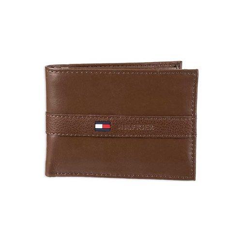 Ví Nam Tommy Hilfiger Men's Leather Wallet - Thin Sleek Casual Bifold Tan
