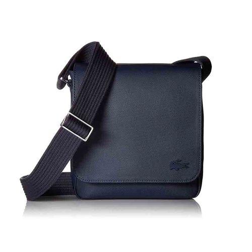 Túi Lacoste Men's Classic Petit Piqué Flap Bag Màu Xanh Tối