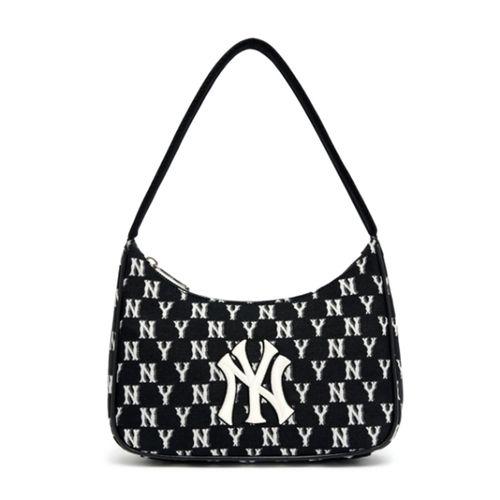 Túi Xách MLB Monogram Jacquard Hobo New York Yankees 3ABQS011N-50BKS Màu Đen