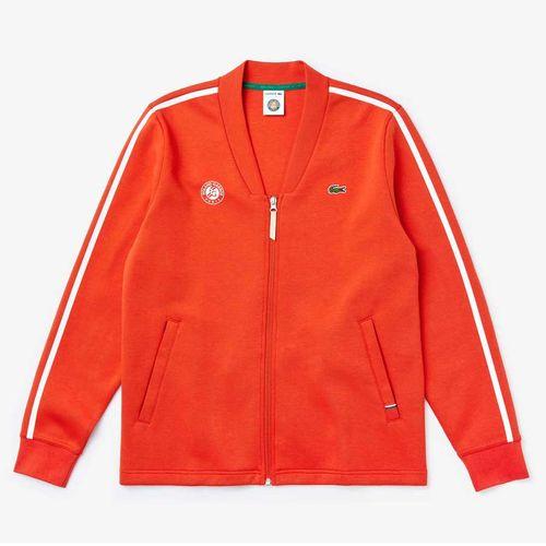 Áo Khoác Nỉ Lacoste Roland Garros Jacket Màu Xanh Đỏ Size XS