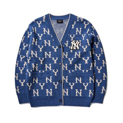 Áo Cardigan MLB Monogram Cardigan New York Yankees 3AKTM0114-50BLD