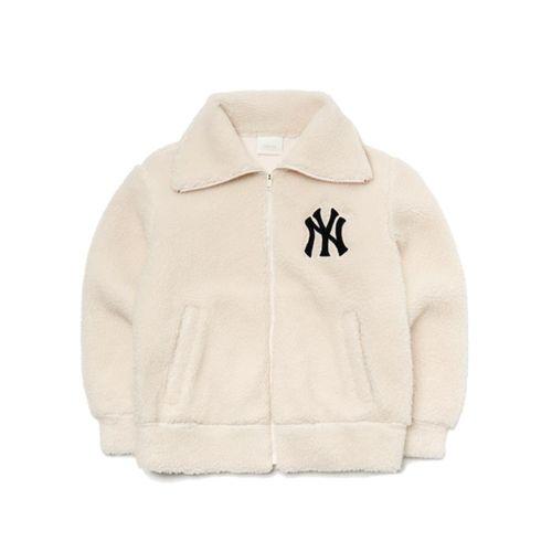 Áo Khoác Lông MLB Basic Stand Neck Dumble Fleece Jumper New York Yankees 3AJPF0316-50CRS Size M