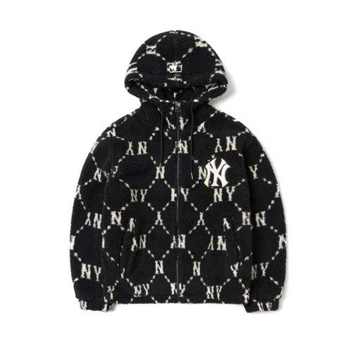Áo Khoác Lông MLB Monogram Dumble Fleece Jumper New York Yankees 3AJPF1316-50BKS