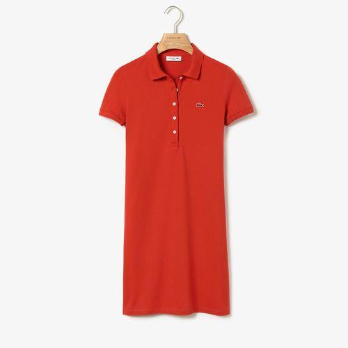Váy Lacoste Women's Stretch Cotton Mini Piqué Polo Dress Màu Cam