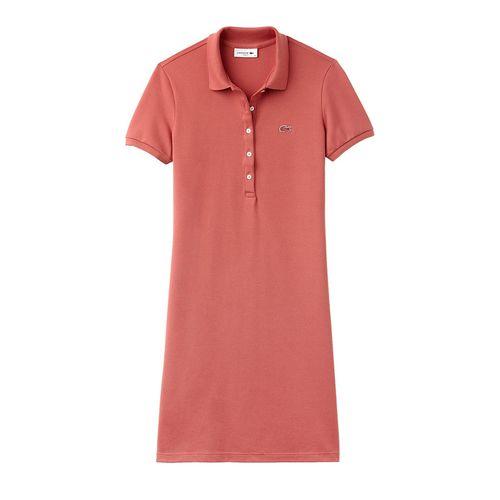 Váy Lacoste Women's Stretch Cotton Mini Piqué Polo Dress Màu Cam San Hô