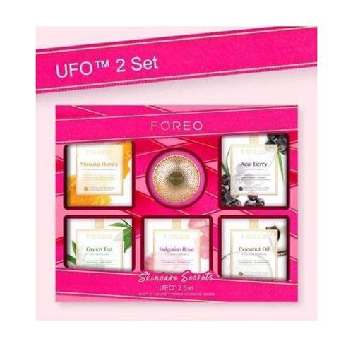 Set Máy Đắp Mặt Nạ Foreo UFO 2 Màu Hồng Đậm Và 5 Hộp Mask