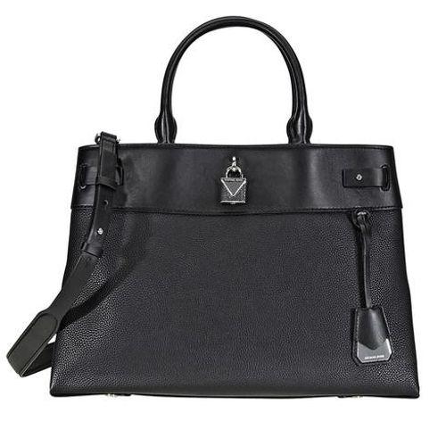 Túi Đeo Chéo Michael Kors Gramercy Large Pebbled Leather Satchel Màu Đen