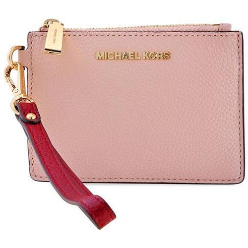 Ví Cầm Tay Michael Kors Mercer Small Zip Leather Coin Purse Màu Hồng