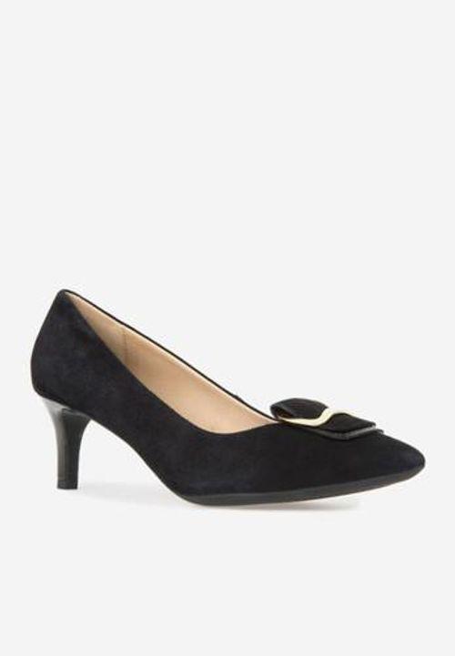 Giày Cao Gót Geox D ELINA A Da Lộn Màu Đen Size 39