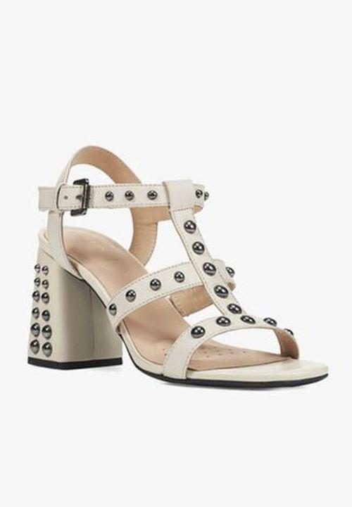 Sandals Nữ Cao Gót Geox D SEYLA S.H. B 6.5cm Màu Kem Size 37