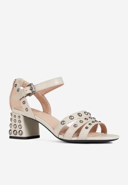 Sandals Cao Gót Geox Seyla San.M.A D92DUA Màu Kem Size 39