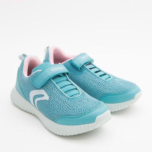 Sneakers Nữ Geox J WAVINESS G. C MESH+GEOBUCK Quai Dán Màu Xanh Ngọc Size 33