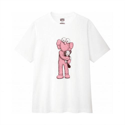 Áo Phông Kaws x Uniqlo UT Họa Tiết Hồng Cho Mùa Hè Size L