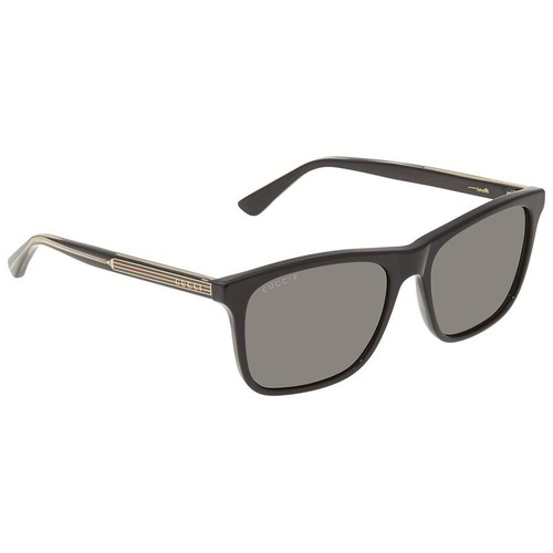 Kính Mát Gucci Grey Polarized Rectangular Men's Sunglasses GG0381S 007 57