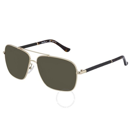 Kính Mát Salvatore Ferragamo Green Square Sunglasses SF145SL 717 59