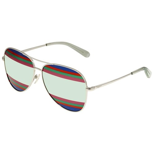 Kính Mát Salvatore Ferragamo Multi/Green Aviator Ladies Sunglasses